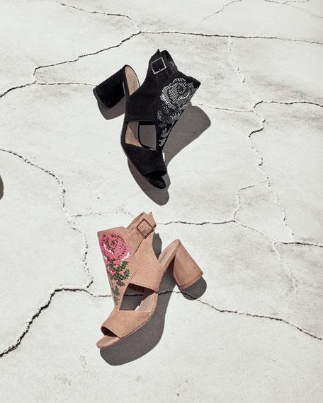 Haruna Cutout Floral Sandal