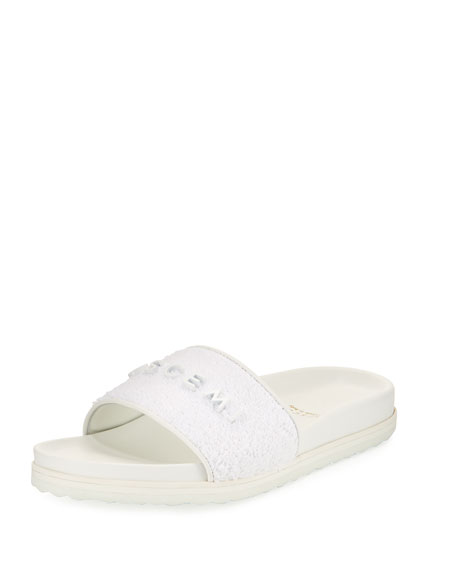 Buscemi Terry Molded Side Sandal, White