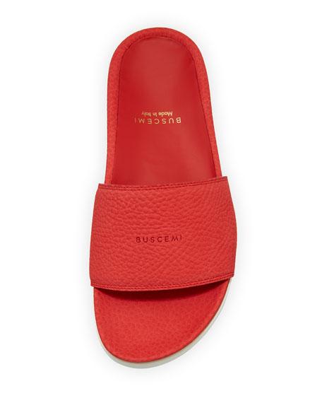 Nubuck Flat Slide Sandals, Ramino