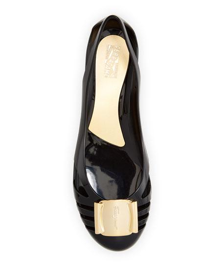 Jelly Ballerina Flat, Black