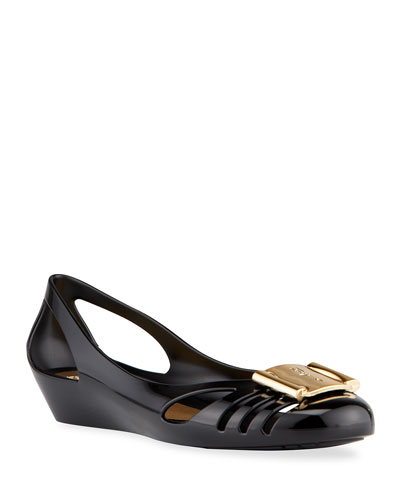 Jelly Ballerina Flat, Black