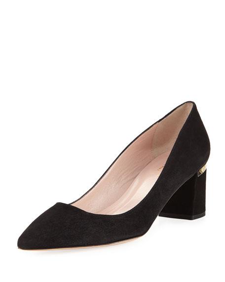 milan too chunky-heel suede pump