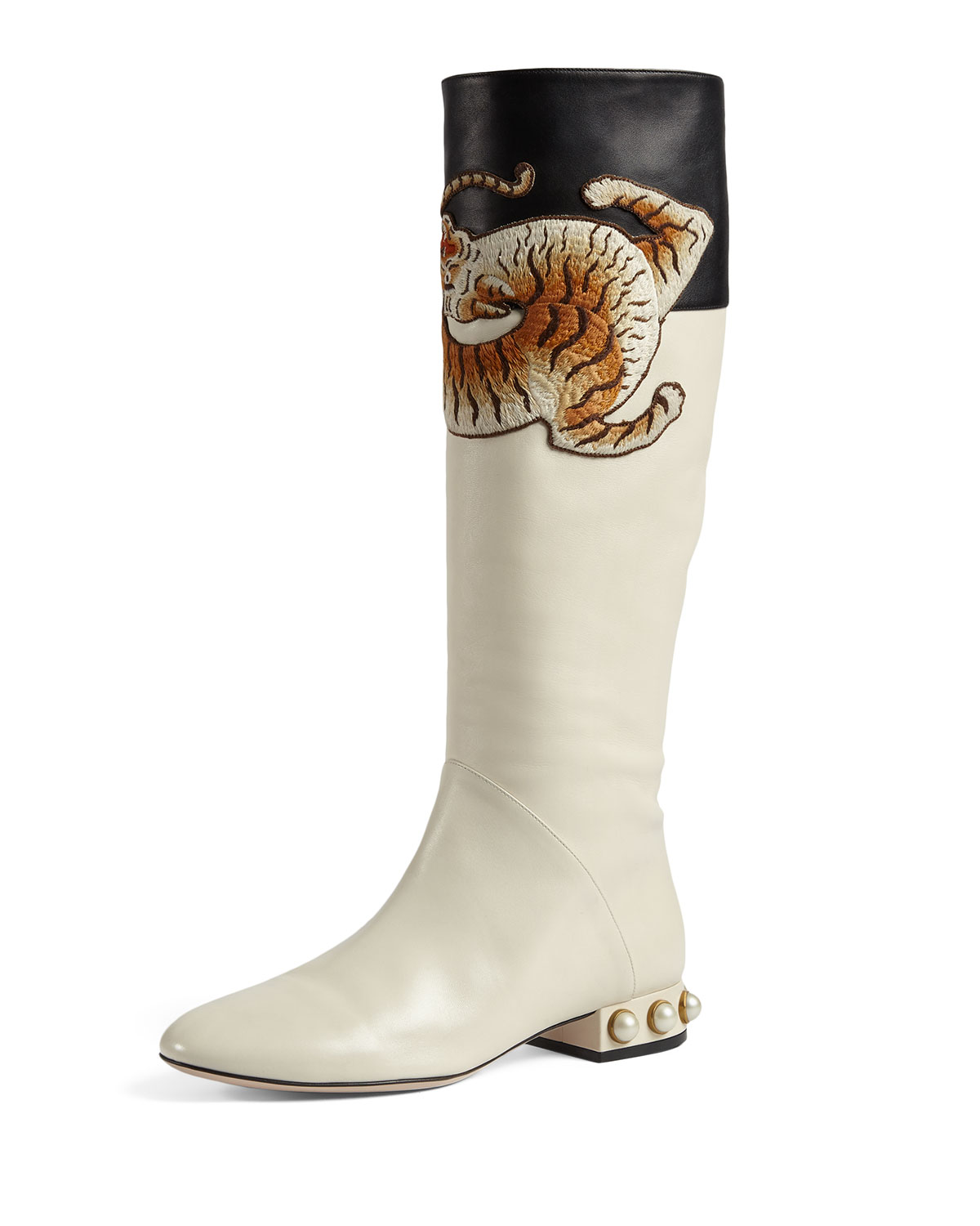 c2ad42b2ff4 Pam Tiger-Embroidered Tall Boot
