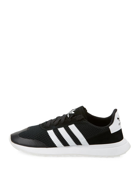 Flashback Mesh/Leather Sneaker, Black