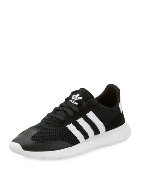 Adidas Flashback Mesh/Leather Sneaker, Black
