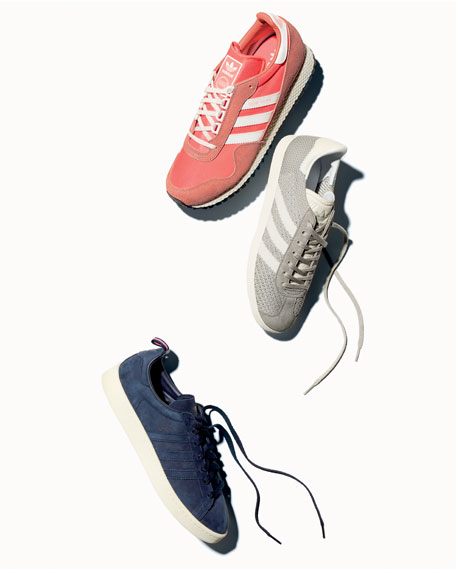 Campus Suede 3-Stripe Sneakers, Dark Blue