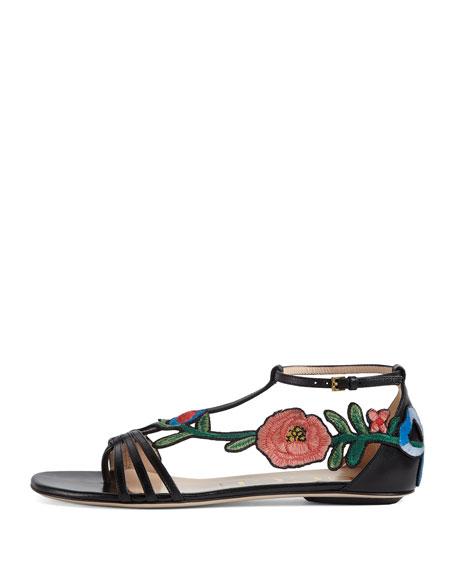 Ophelia Flat Embroidered Sandal