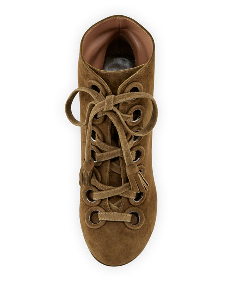 Paddle Suede Lace-Up 90mm Booties