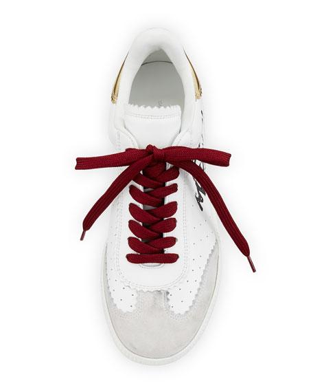 Bryce Lace-Up Logo-Print Sneaker, White