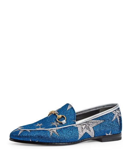 Gucci New Jordaan Star Loafer, Blue