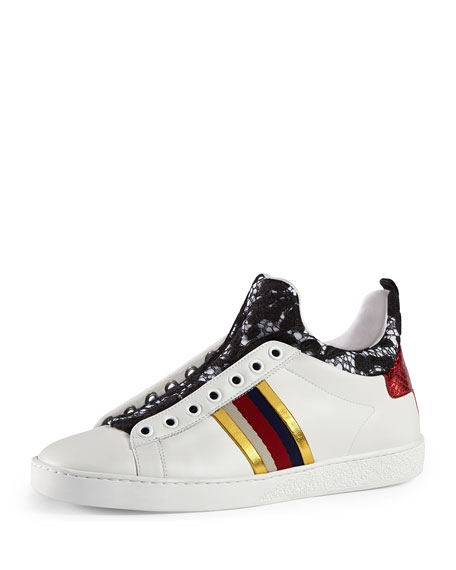 Gucci High-Top Sneakers, White
