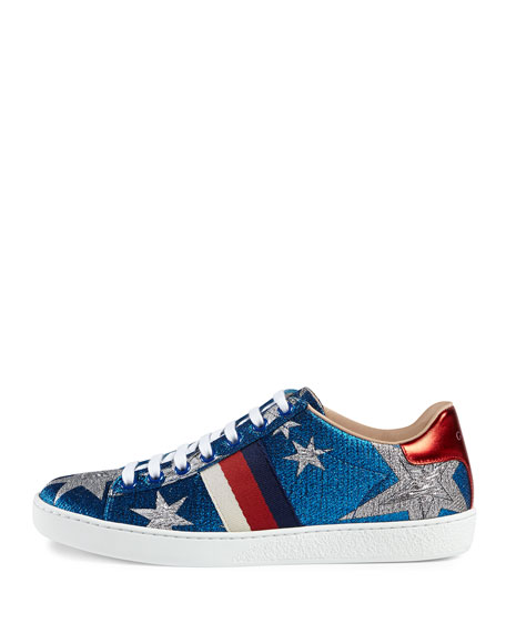 New Ace Metallic Star Low-Top Sneaker