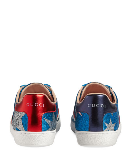 New Ace Metallic Star Low-Top Sneaker