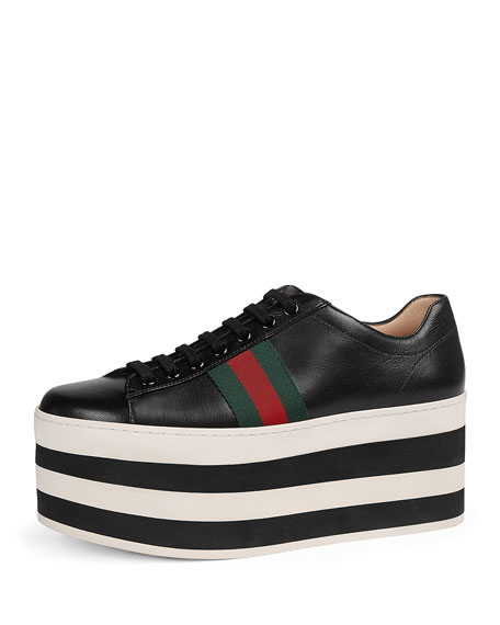 Peggy Leather Platform Low-Top Sneaker