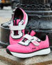 Stretch Mesh Platform Sneakers, Pink