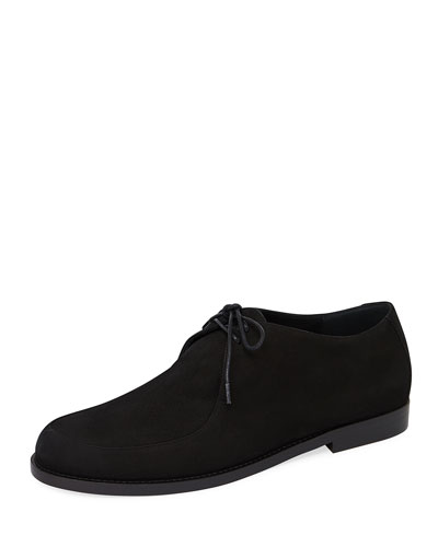 Smooth Suede Lace-Up Oxford