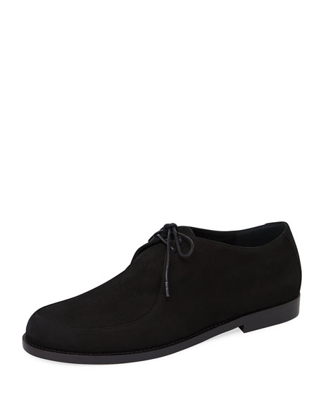 Mansur Gavriel Smooth Suede Lace-Up Oxford