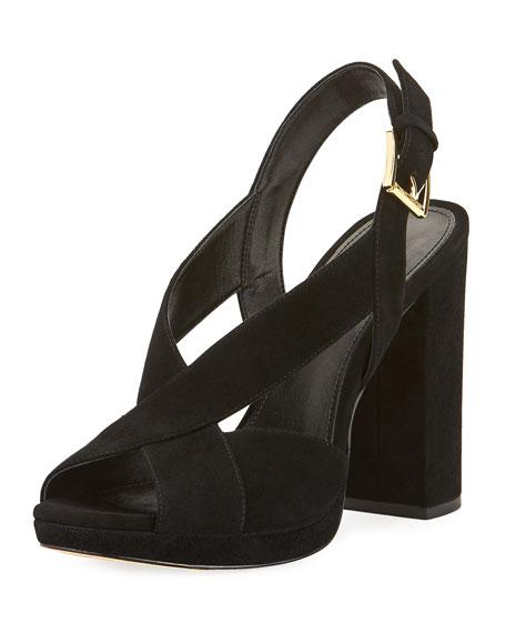 MICHAEL Michael Kors Becky Suede Platform Sandal
