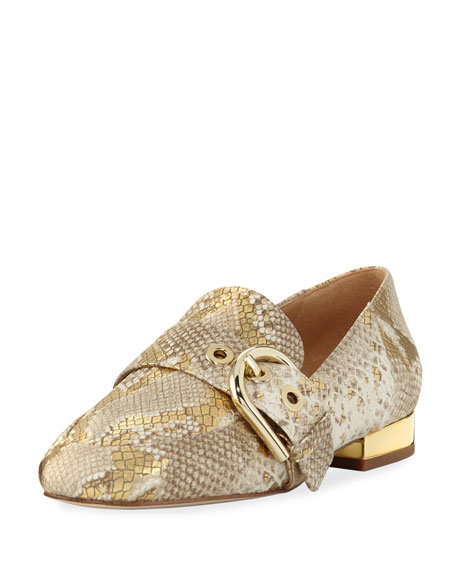 MICHAEL Michael Kors Cooper Snake-Embossed Slipper Loafer