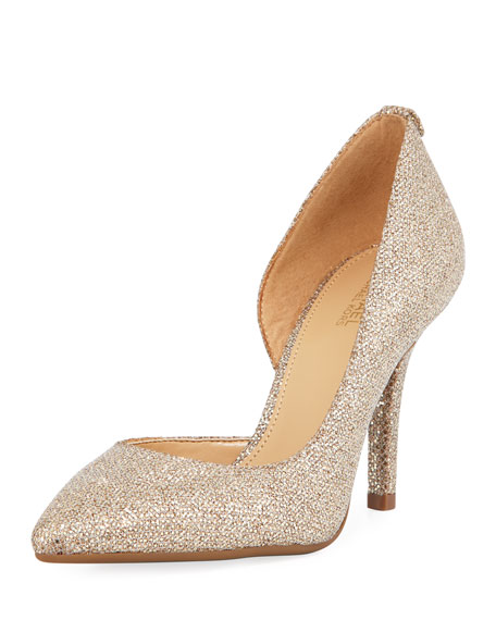 MICHAEL Michael Kors Nathalie Flex Asymmetric Glitter Pump,