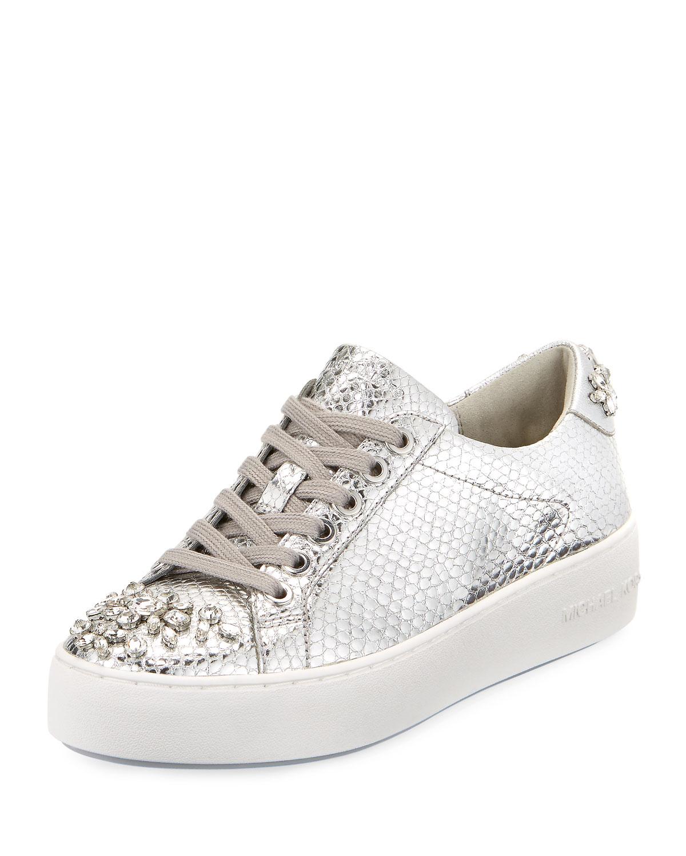 d87723a87b81 MICHAEL Michael Kors Poppy Embellished Metallic Sneaker