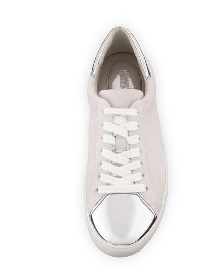 Frankie Suede & Metallic Sneaker, Optic Silver