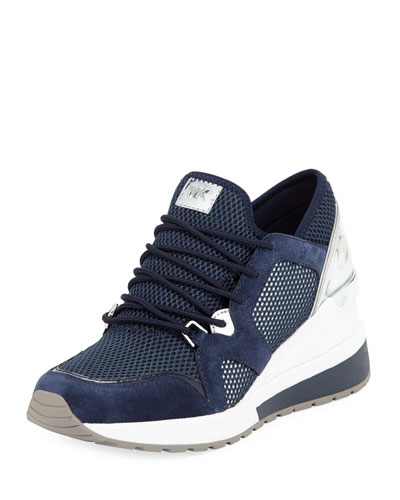 Scout Mesh Knit Wedge Trainer Sneaker, Admiral