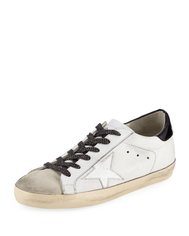 b0012cdbba725 Golden Goose Superstar Leather Low-Top Sneaker