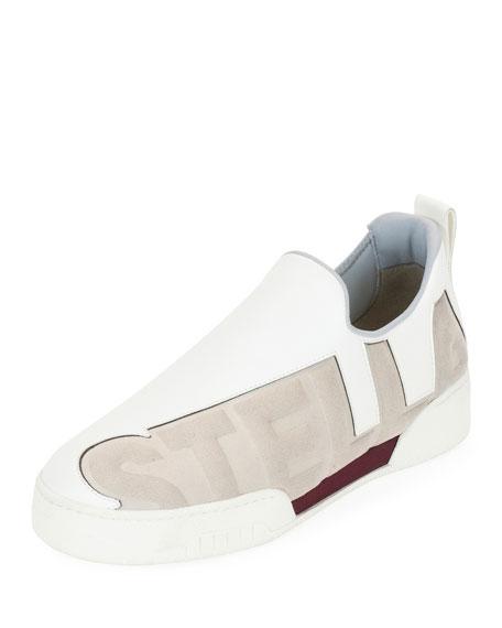 Stella Printed Slip-On Sneakers, Gris Stone