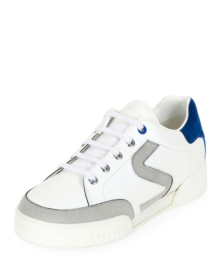 Stella McCartney S-Side Lace-Up Low-Top Sneaker, White/Gray