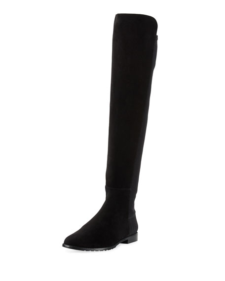 Stuart Weitzman Corley Suede Over-The-Knee Boot, Black