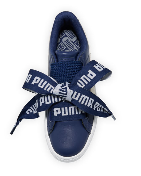 Basket Heart Leather Sneaker,  Royal