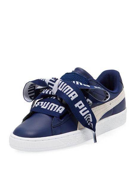 Puma Basket Heart Leather Sneaker, Royal