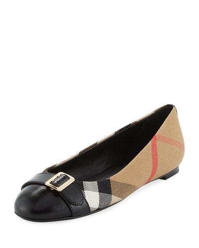 Avon Check Ballerina Flat