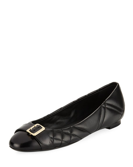Burberry Avon Quilted Ballerina Flat