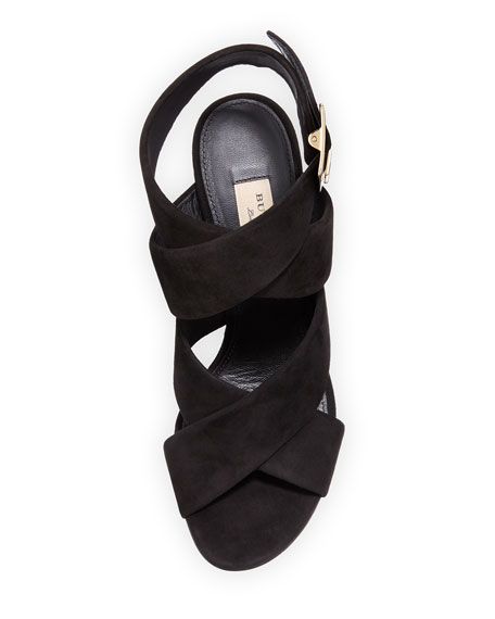 Blaine Suede Crisscross Sandal