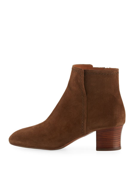 Florine Suede Zip Ankle Boot