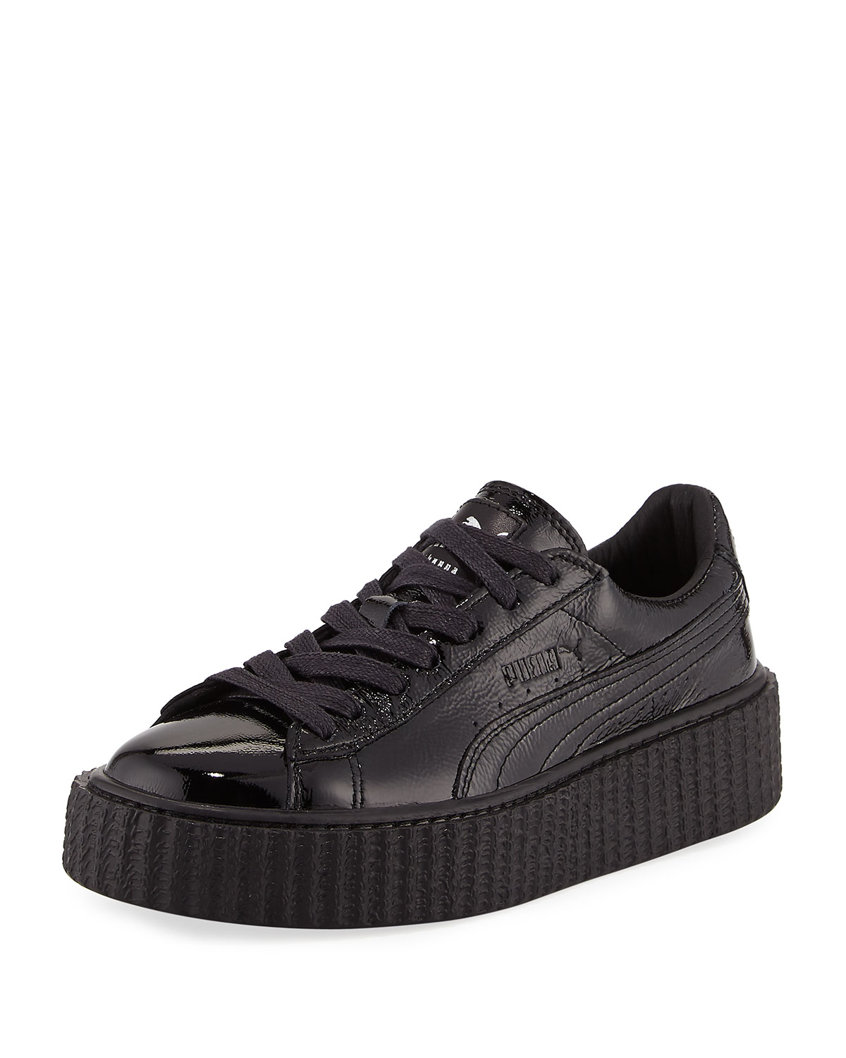 the latest a3690 93ebc Creeper Cracked Patent Leather Sneaker, Black