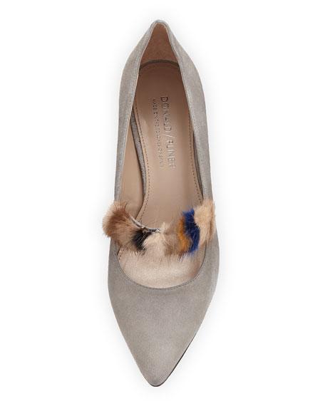 Blake Fur Kitten-Heel Pump