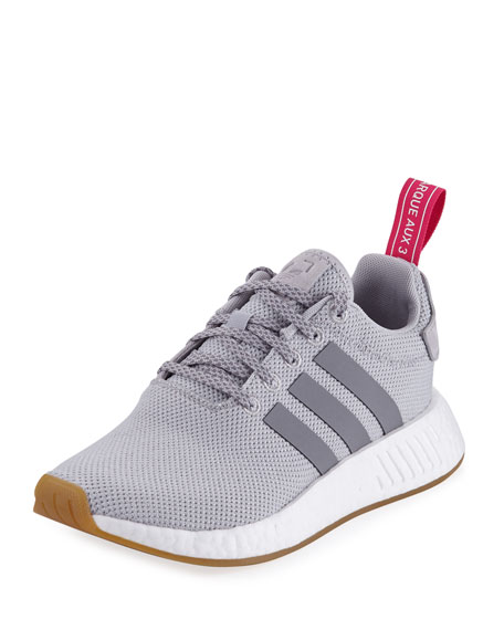 Adidas NMD R2 Knit Molded Sneaker, Gray