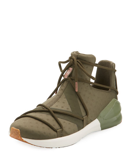 Puma Fierce Rope Dotted Stretch Sneaker, Olive