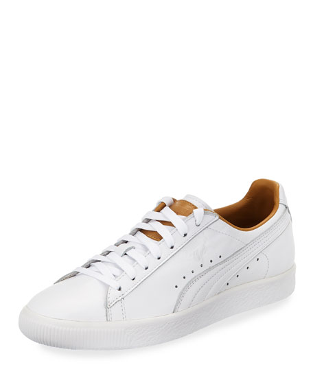 Puma Clyde Core Perforated Sneaker, White
