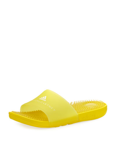 Adissage Slide Sandal with Massaging Footbed, Bright Yellow