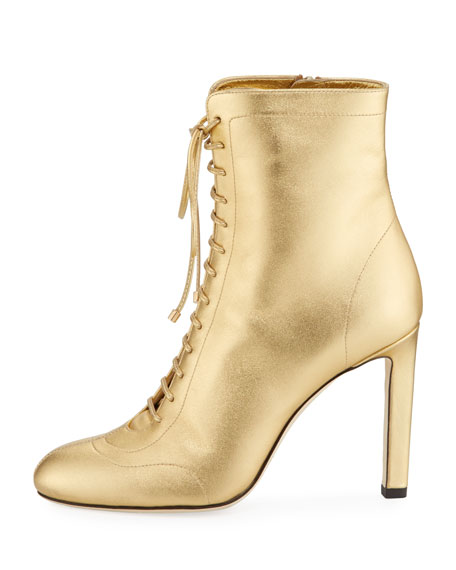 Daize 100mm Metallic Leather Bootie