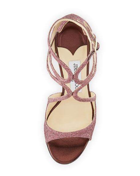 Lang 100mm Fine Glitter Cutout Sandal