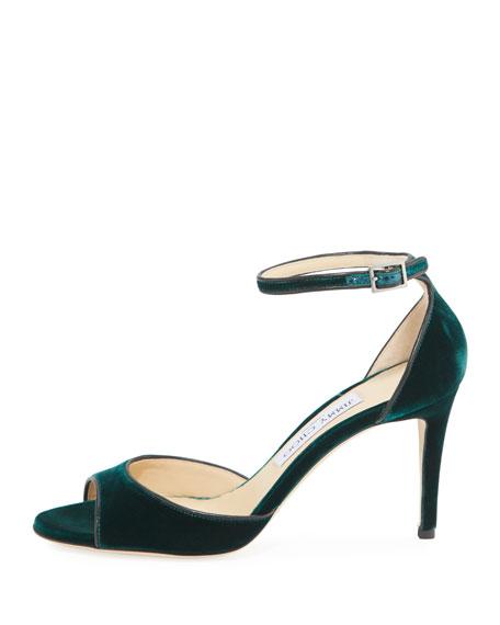 Annie Velvet 85mm City Sandal