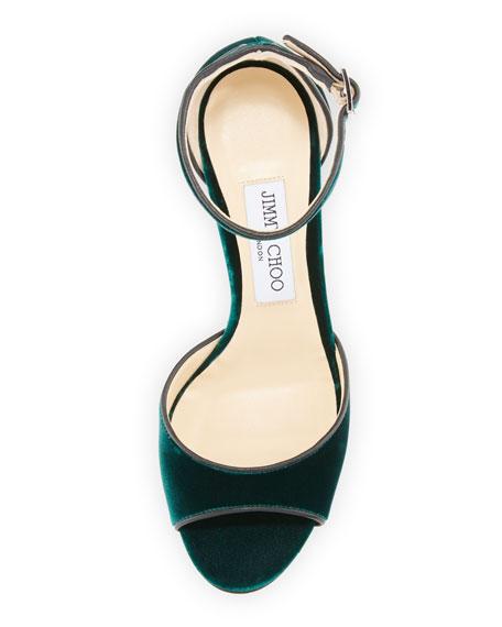 Jimmy Choo Annie Velvet 85mm City Sandal