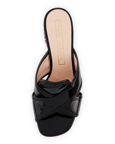 Aurora Embellished Mule Sandal, Black