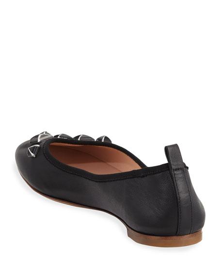 Cleo Stud Ballerina Flat, Black