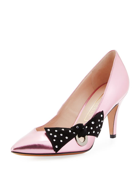 Marc Jacobs Daryl Metallic Bow Pump, Pink